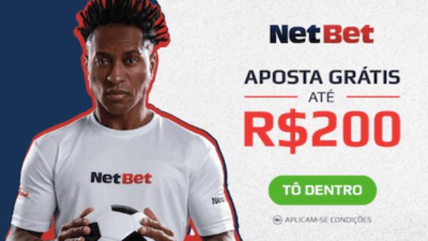 Bonus NetBet aposta gratis 200 reais