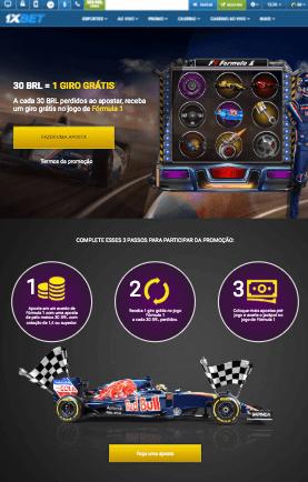 Formula 1 com promo 1xBet