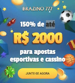 bonus boas vindas Brazino777 exclusivo 150%