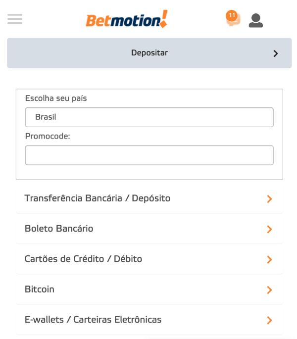 Betmotion Criptomoeda Deposito
