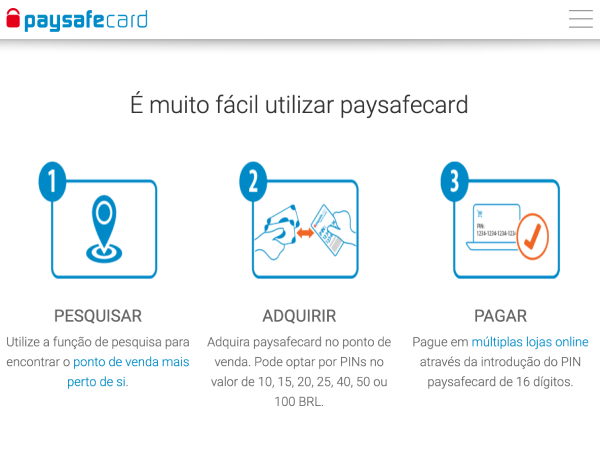 PaysafeCard como utilizar