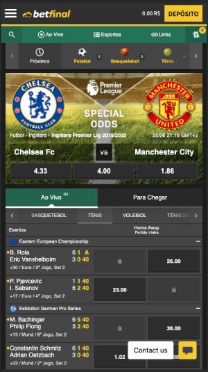 Betfinal homepage app