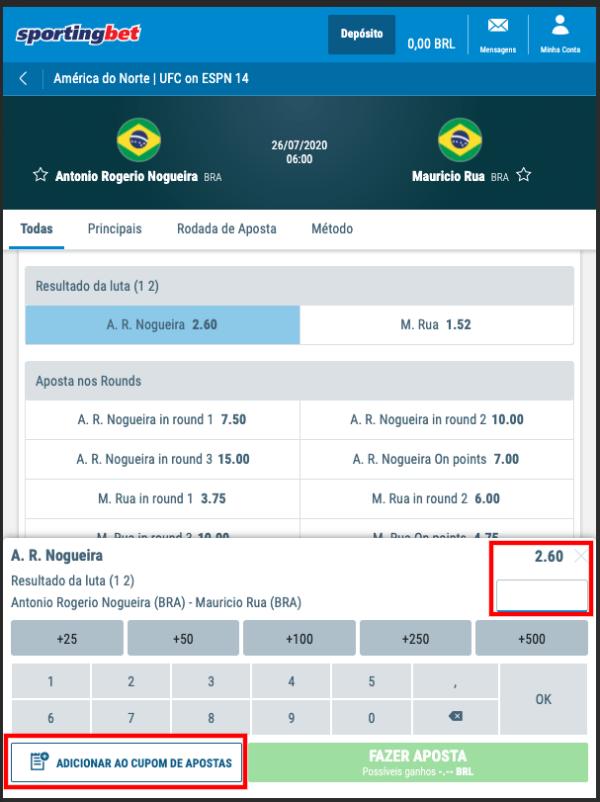 Sportingbet Aposta Evento UFC Brasil 4