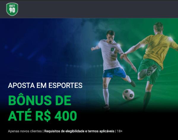 Bonus Bet90 Brasil R$400 400COPA Primeiro deposito