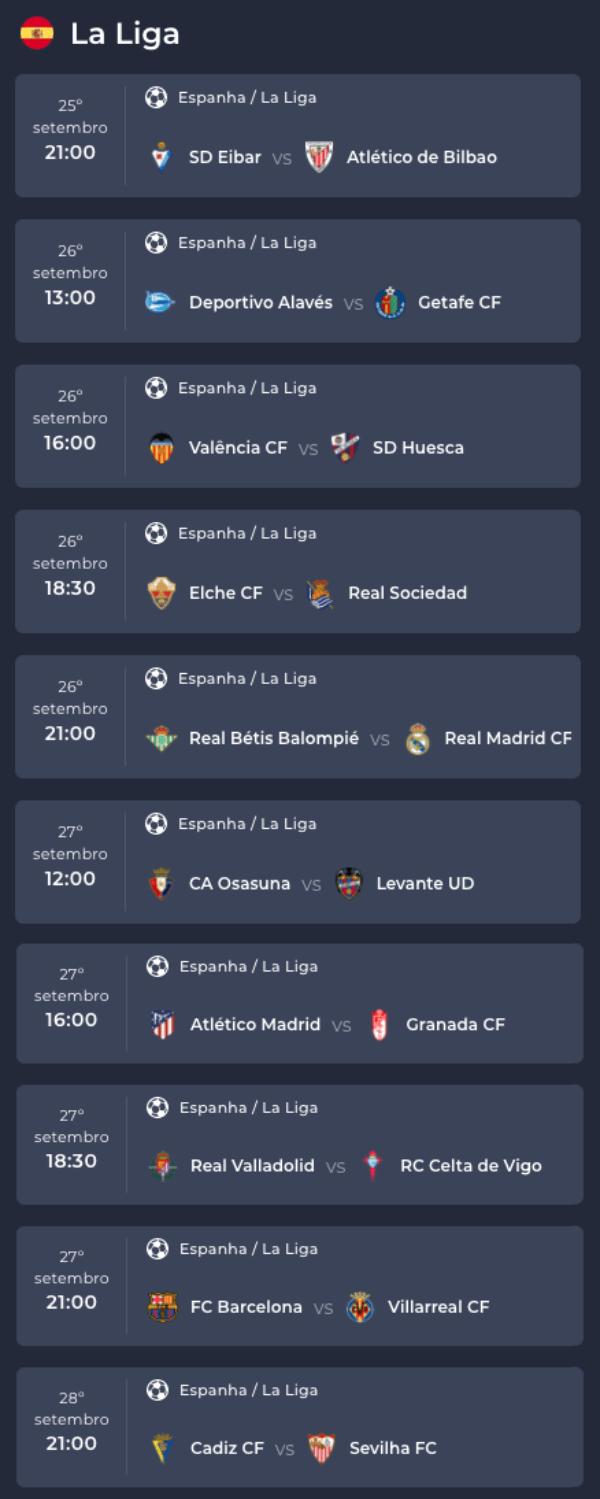 Bettilt La Liga 23/09