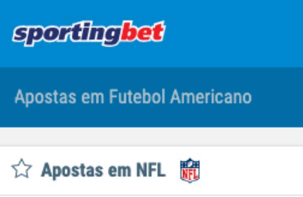 Sportingbet Apostas em NFL Futebol Americano