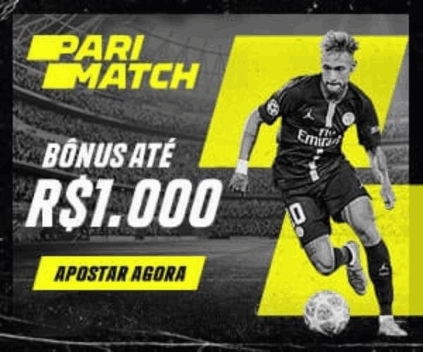 Bonus Parimatch primeiro deposito e boas vindas de 100% até 1000 brl