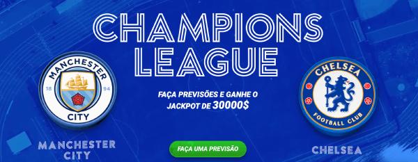 Promo 1xBet Champions League Previsões Manchester City x Chelsea