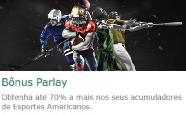 Promo Parlay Bet365 para Esportes Americanos NHL NBA MLB NFL