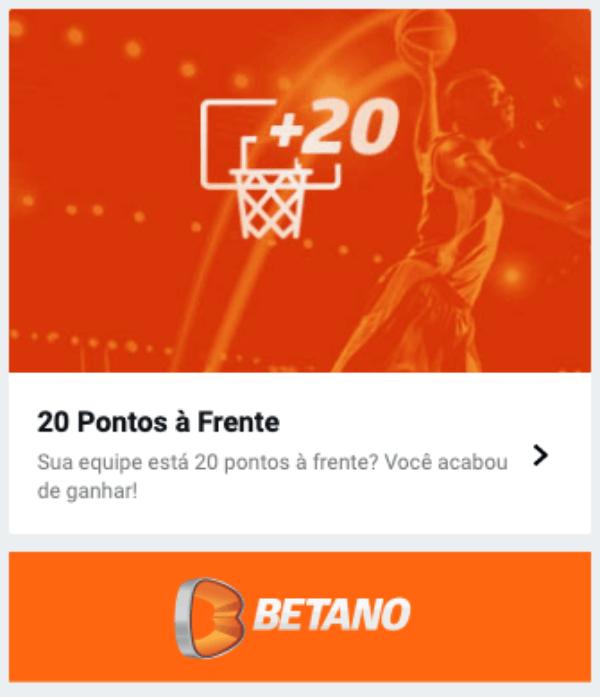 Promo Betano 20 Pontos a frente na NBA