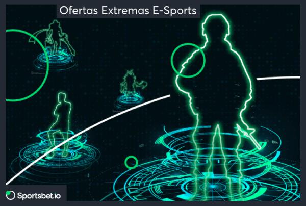 Ofertas extremas em eSports da Sportsbet.io