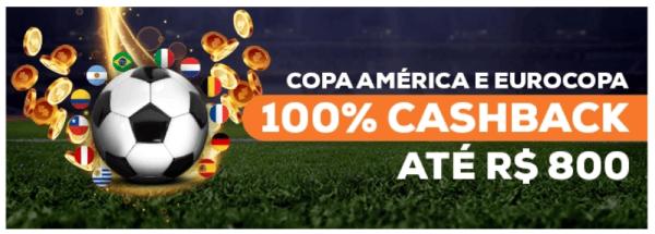Promo Cashback Betmotion na Eurocopa 2021 e Copa América 2021