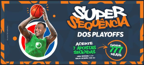 Promo Sportsbet.io Super Sequencia dos Playoffs NBA para apostar